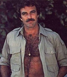 Tom Selleck's hairy manly chest
